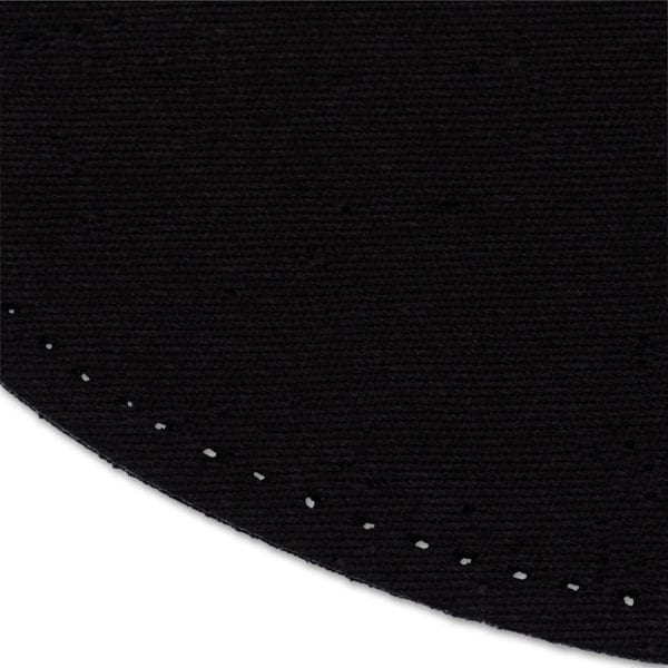 Strykbar laglapp i svart för armbågar