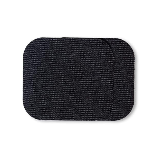 Laglapp Jeans svart påstrykbar