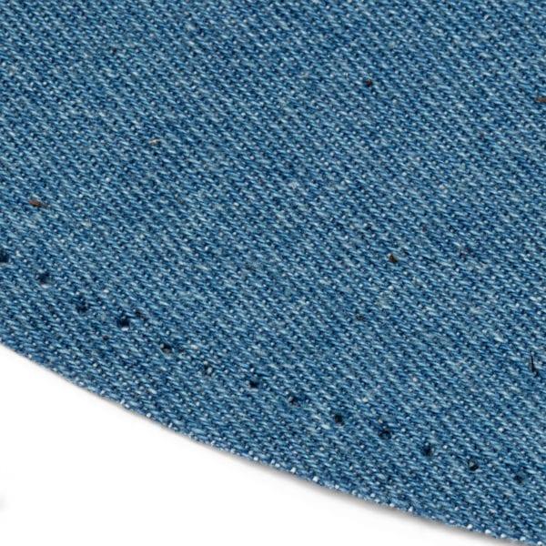 Laglapp med syhål ljusblått