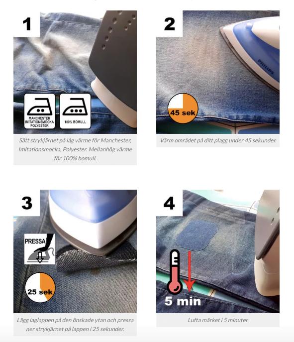 Officiell guide för hur man stryker på laglappar