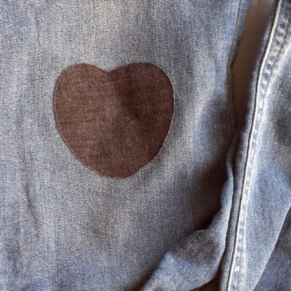 Laglappen för jeans hjärta