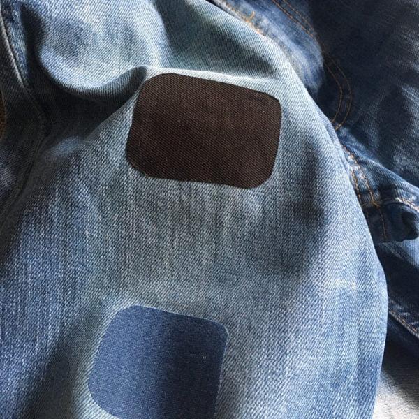 Laglappar på jeans