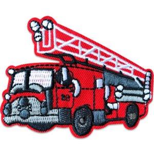 tygmärke röd brandbil