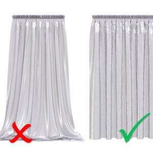 Fållfix - gardin - fålla gardinen utan nål tråd