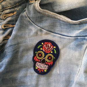 Coolt tygmärke - Sugar Skull - Jeans