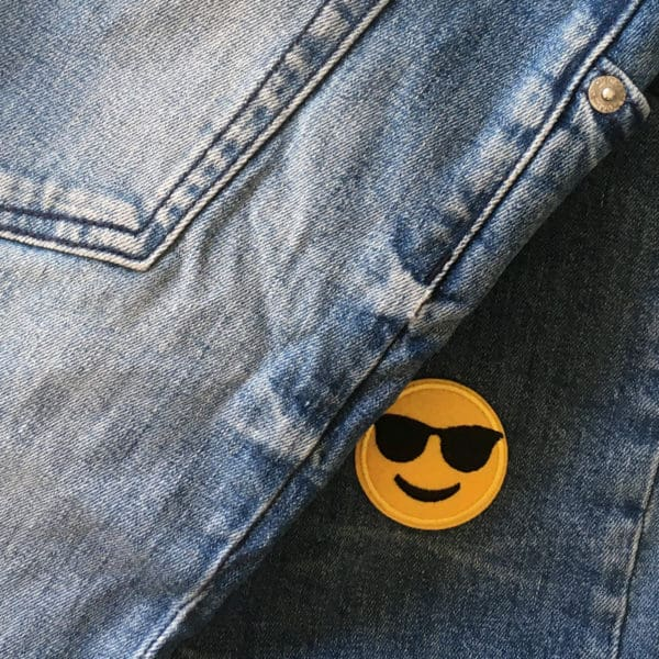 Patch - Emoji - Tygmärke - Solglasögon