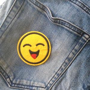 Roligt tygmärke - smiley