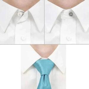 flexiknappar om kragen på skjortan är liten