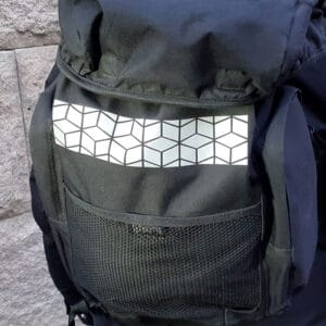 reflex påstrykbar till ryggsäck