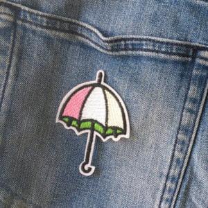 Paraply - Tygmärke - Patch - Stryka på
