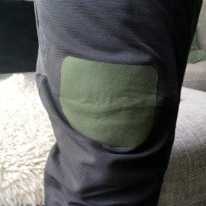 Grön Laglapp Polyester på gympabyxor