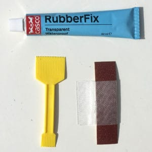 RubberFix Reparationssats, spatel, slippapper