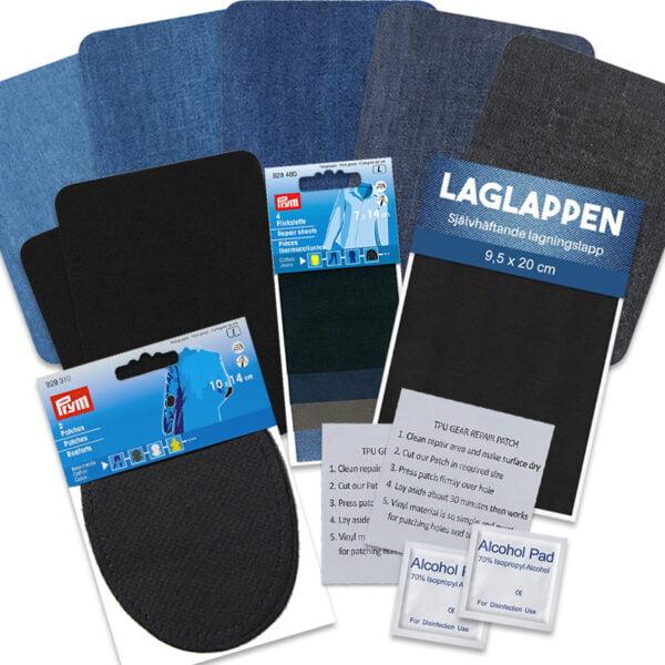 Lappat & Lagat paket blandade laglappar att laga kläder med