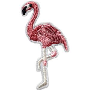 Tygmärke rosa flamingo