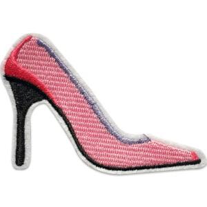 Rosa Högklackade skor - tygmärke