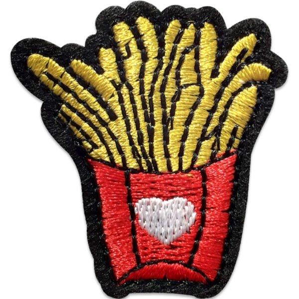 Pommes frites hjärta - tygmärke