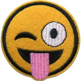 Emoji Blinkande öga | tygmärke