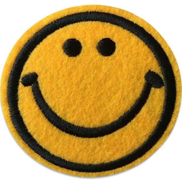 Emoji stort leende, tygmärke