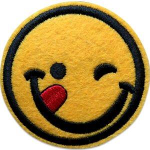 Smiley Glad Tunga | Tygmärke | Iron On