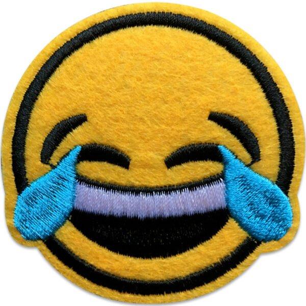 Emoji Gråter av skratt   tygmärke