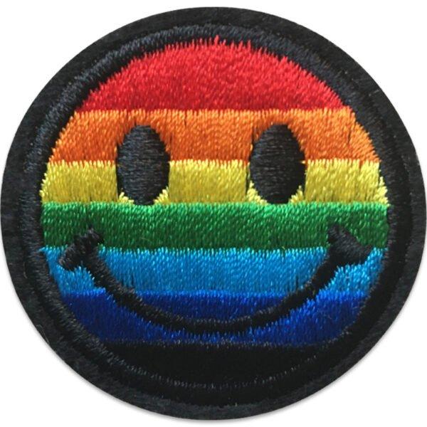 Regnbågsfärgad Emoji - tygmärke