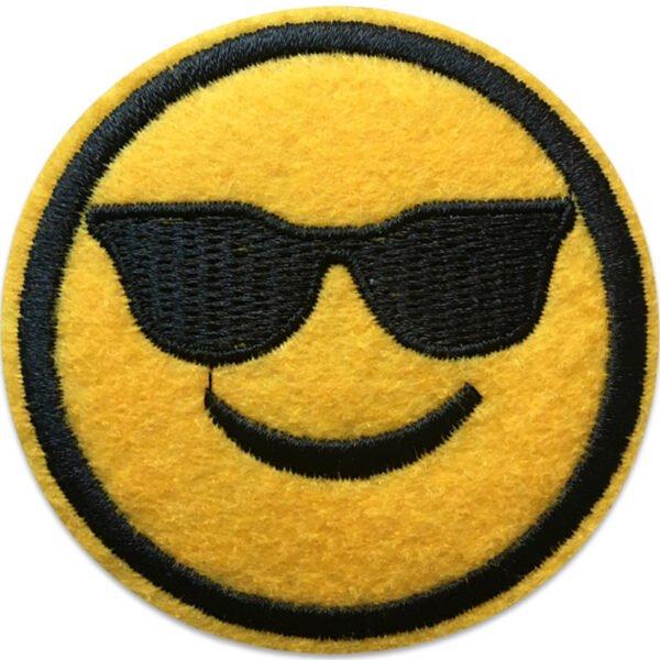 Emoji solglasögon, tygmärke