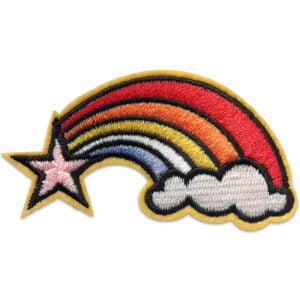 Fallande stjärna Regnbåge - tygmärke