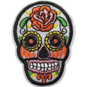 Sugar Skull | Mexikansk Dödskalle |Tygmärke