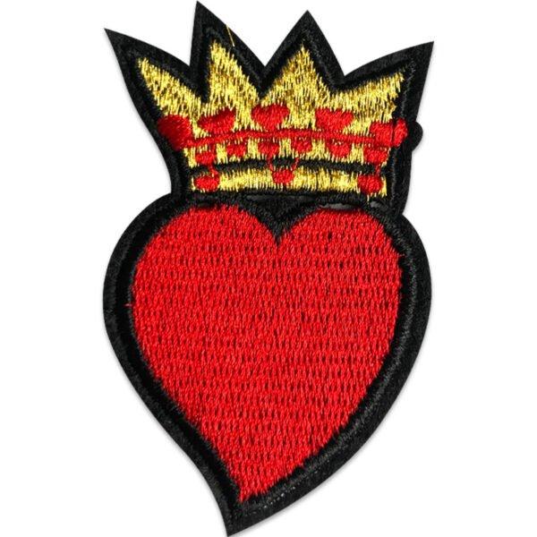 kungligt hjärta tygmärke