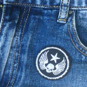 Dödskalle - emblem - tygmärke