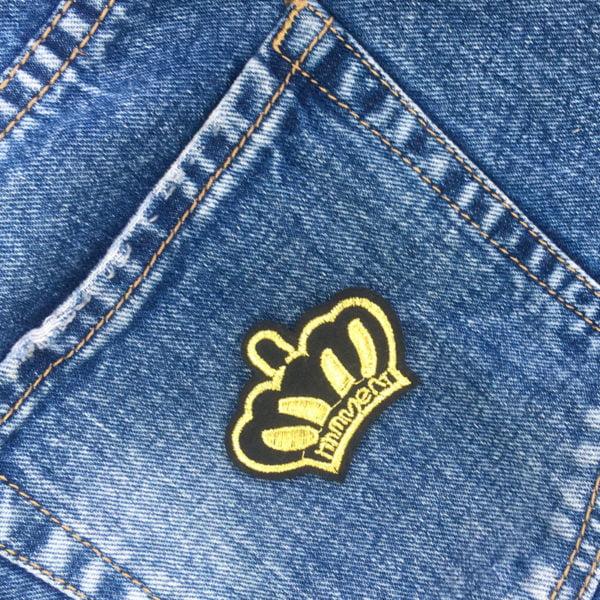 Drottningkrona jeans - tygmärke