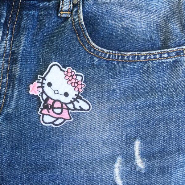 Hello Kitty ängel - tygmärke