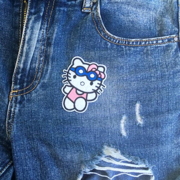 Hello Kitty simma jeans - tygmärke