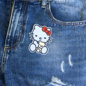 Hello Kitty teddybjörn jeans - tygmärke