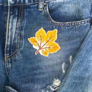 löv brunvit jeans - tygmärke