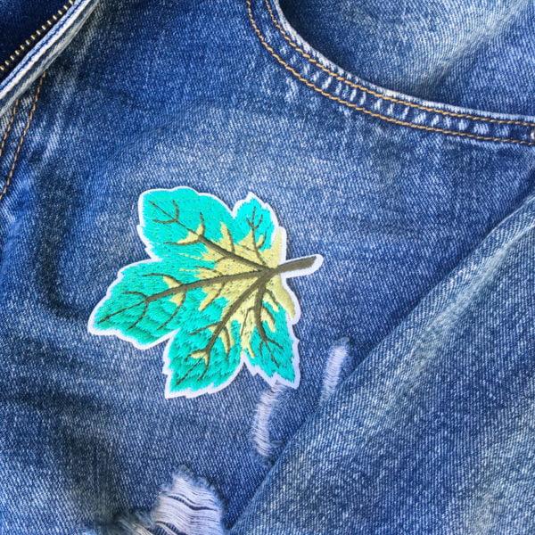 löv grön jeans - tygmärke