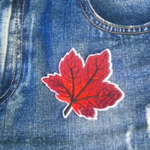 Löv Senhöst jeans - tygmärke