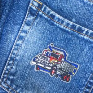Lastbil på jeans - Tygmärke - Patch
