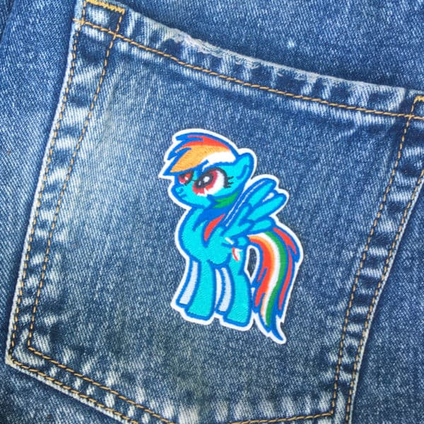 My Little Pony Rainbow Dash jeans - tygmärke