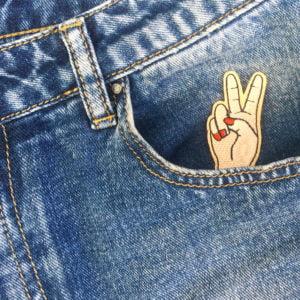 peaceteckan hand jeans - tygmärke
