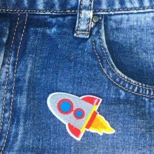 Raket som flyger - Tygmärke