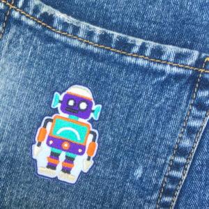 robot - tygmärke