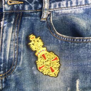 Sigill Medalj rött kors jeans - tygmärke
