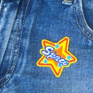 Stjärna Space Tygmärke