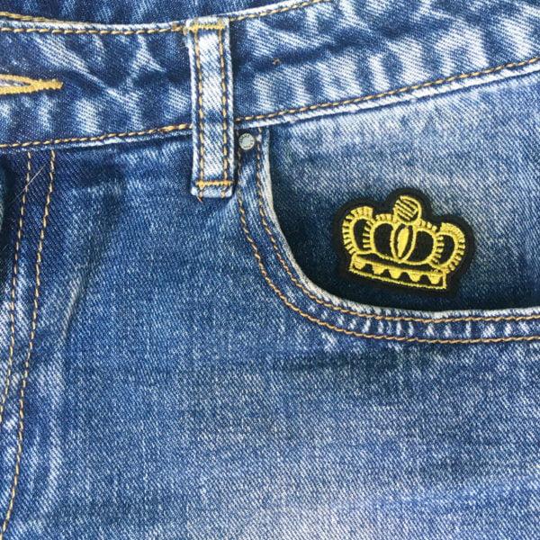 Tre guldkronor jeans - tygmärke