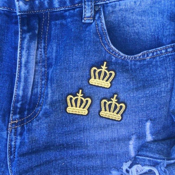 Tre kungakronor jeans - tygmärke