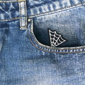 tufft spindelnät jeans - tygmärke