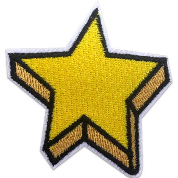 superstjärna 3d - patch - tygmärke