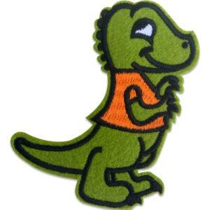 Cool krokodil orange väst - tygmärke