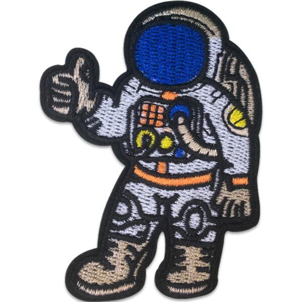 Astronaut Tummen Upp - Tygmärke - Patches